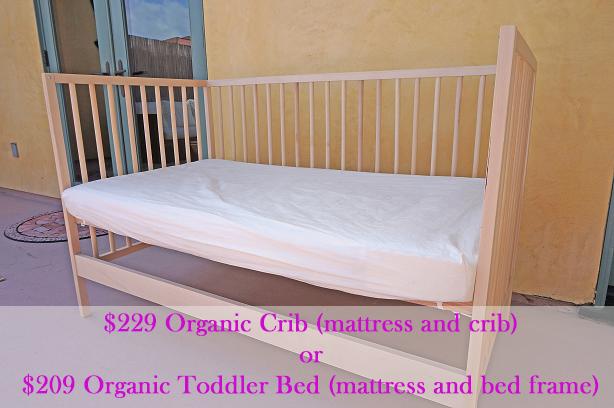 $229 All Organic Crib OR $209 All Organic Toddler Bed - Organic Housewife